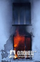 В Лодейном Поле на пожаре погиб человек