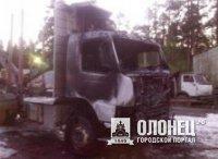 В Сортавала сгорели пять грузовиков