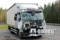 В Пряже столкнулись автобус, фура и грузовик