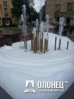 Пенный фонтан на Студенческом бульваре